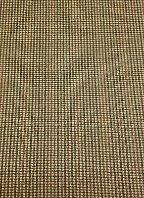 Pure Wool Fabric,Rustic Flat Cap Check. Remnant,End Of Roll  100 Cm X 148 Cm • 0.99£