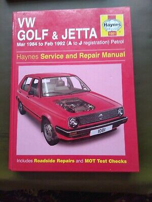 VW Golf & Jetta Haynes Service And Repair Manual. Mar 1984-Feb 1992. Petrol  • 1.50£
