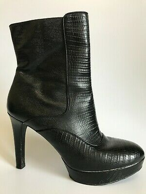 ROCKPORT Black Leather Ankle Boots Womens UK 7.5 • 25£