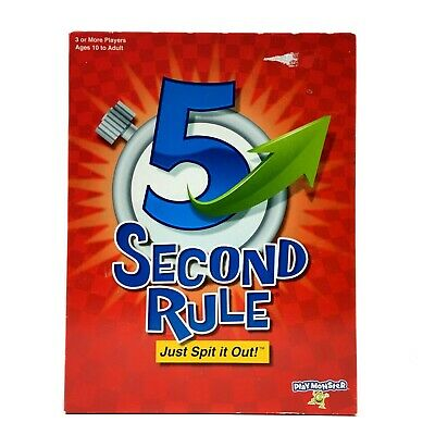 AU37 • Buy PlayMonster 5 Second Rule Board Game 7434