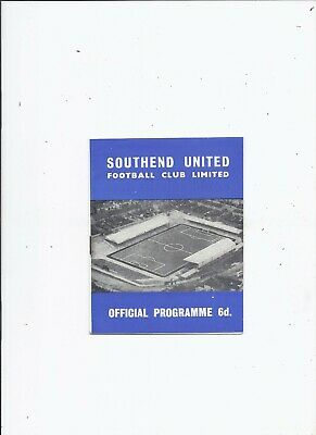 Southend United V Walsall 5 February 1966 • 0.99£