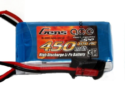 AU19.99 • Buy Gens Ace 450mah 3S 11.1v 30C Lipo Battery JST
