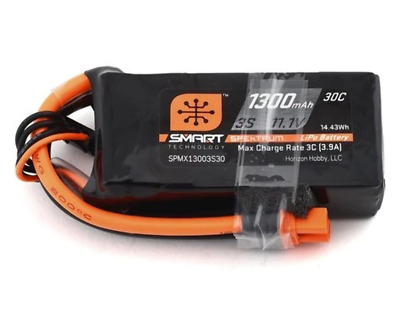 AU59.99 • Buy Spektrum 1300mah 3S 11.1v 30C Smart LiPo Battery With IC3 Connector