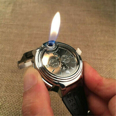 AU12.99 • Buy Military Cigarette Cigar Lighter Watch Men Quartz Refillable Wrist Watches Gift