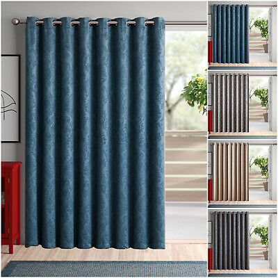 Thermal Blackout Single Panel Door Curtains Ring Top Eyelet Curtains 66  X 84  • 17.95£