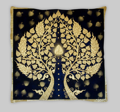 £7.50 • Buy Black And Gold Oriental Tree Double Sided Cushion Covers 45cm X 45cm (18X18)