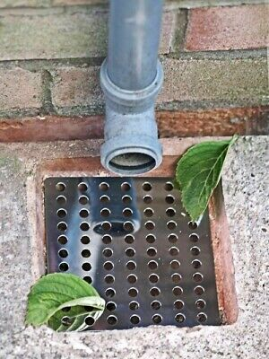 £5.99 • Buy 2x Durable Metal Drain Covers Outdoor Leaf Gutter Tidy Protector Guard