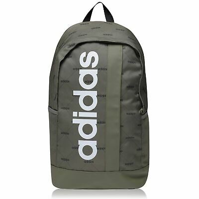 AU99.79 • Buy Adidas Linear Backpack Khaki AOP Rucksack Knapsack Bag Pack