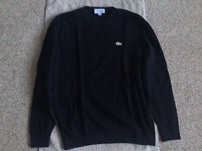 Mens Lacoste Wool/silk/cashmere Jumper - Size 4 Good Condition • 40£