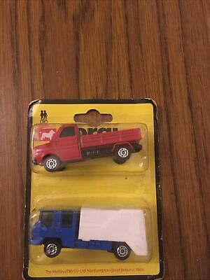 Corgi Juniors 1981 Twin Pack Ford Transit And  & Refuse Truck Unopened Some Wear • 14£