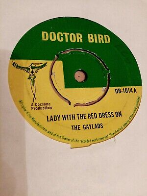 Gaylads - Lady With The Red Dress On - 1966 UK Doctor Bird DB-1014 - Reggae • 12.50£
