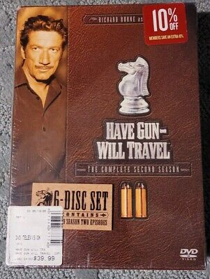 $6.74 • Buy Have Gun Will Travel - The Complete Second Season (DVD, 2005, 6-Disc Set)