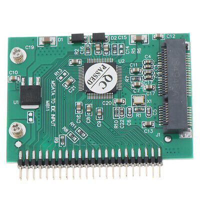 MSATA SSD To 44 Pin IDE Adapter MSATA IDE Converter Card 2.5 Inch IDE HDD_b$ • 5.16£