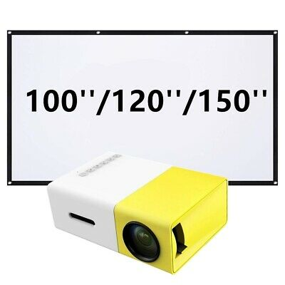 AU83.99 • Buy New Mini Pocket LED Home Projector HD 1080P Portable Cinema HDMI USB + Screen