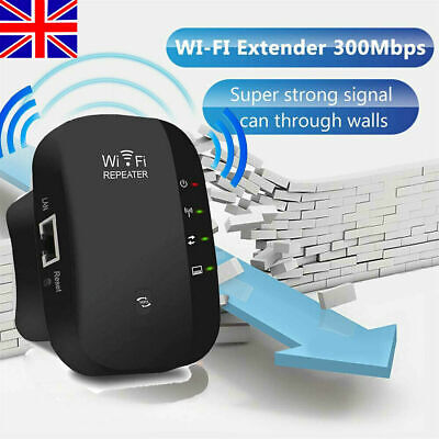 WiFi Signal Repeater Extender Range Booster Internet Network Amplifier UK Plug! • 9.99£