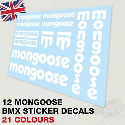 £8.50 • Buy Set Of 12 Mongoose Bmx Bike Decals Stickers - 21 Colours