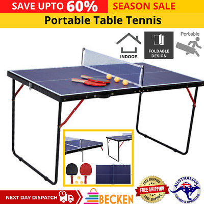 AU81.14 • Buy SALE Portable Table Tennis Table Play Post Indoor Outdoor Net Bat Ball Activity