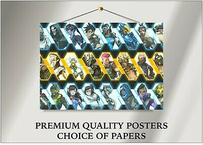AU11.32 • Buy Overwatch Characters Art Large Poster Print Gift A0 A1 A2 A3 A4 Maxi