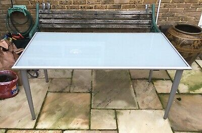 LARGE IKEA TABLE/DESK - TEMPERED GLASS (155cm X 80cm) • 40£