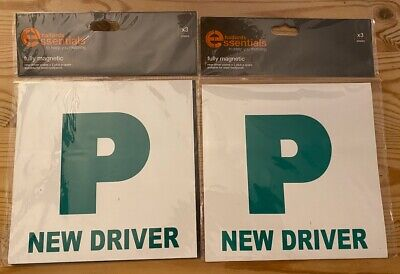 Fully Magnetic Passed Pass Green P Driver Plate Plates For Car Vehicle X 4 • 1.30£