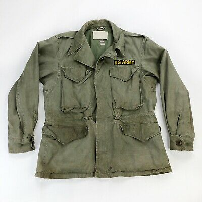$79.95 • Buy Vintage US ARMY OD Field Cargo Military Jacket M1943 34 S Small Short