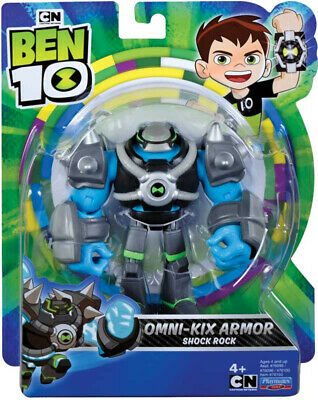 Ben 10 - Omni Kix Armor Shock Rock 5  Action Figure By Playmates Toys BRAND NEW • 14.99£
