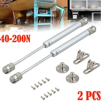 2X 200N Gas Strut Lid Support Stay Cabinet Spring Hinge Bar Kitchen Cupboard Box • 9.99£