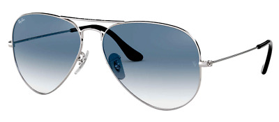 AU119.49 • Buy Ray-Ban RB3025 003/3F 58mm AVIATOR Blue Gradient Lenses Silver Frame Sunglasses