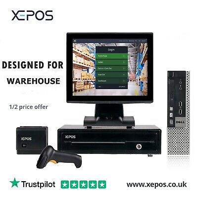 £149 • Buy XEPOS 12in Touch Screen POS EPOS Cash Register Till System For Warehouse Shop