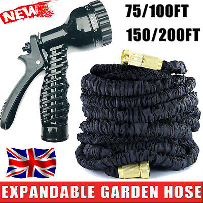75-200FT Hot Expandable Magic Flexible Garden Water Hose For Car Hose Pipe New!! • 17.66£