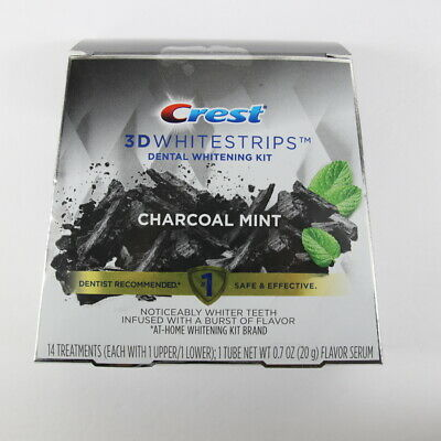 AU25.28 • Buy Crest 3D White Strips Charcoal Mint Teeth Whitening Kit Strips + Serum