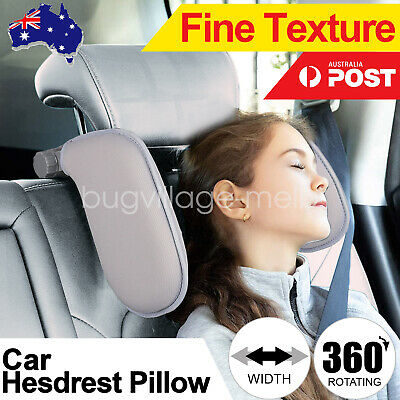 AU39.99 • Buy Adjustable Car Seat Headrest Pillow Neck Support For Kids Adults Sleep Cushion