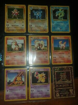 Base Set Pokemon Cards,  WOTC 1999 Vintage Bundle X45 With Holos And Other Cards • 5£