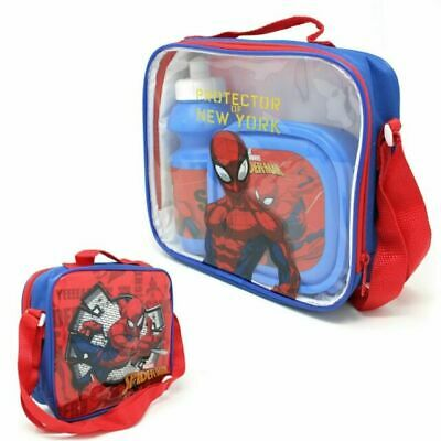 Marvel Spider-Man Character 3 Pcs Insulated Kids Boys Lunch Bag • 12.99£