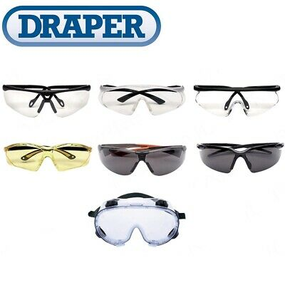 £11.99 • Buy DRAPER SAFETY GLASSES Spectacles Specs Goggles Anti-Mist/Scratch Tint UV Lens