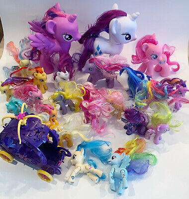 My Little Pony Brushable Ponies Mixed Lot Of 25 Ponies + Carriage, 2010 • 14.30£