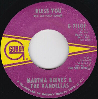 £4.99 • Buy Soul / Motown--Martha Reeves And The Vandellas--Bless You / Hope I Don't Get My