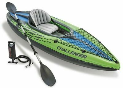 AU241.61 • Buy Intex Challenger K1 Inflatable Kayak & Oars Pump NEW ✅200+ FDBACK ✅NEXT DAY POST