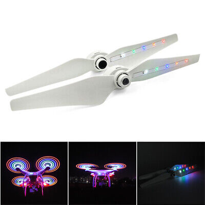 AU23.44 • Buy 2Pcs White Propellers For DJI Phantom 3 With LED Light Drone Accessories AU