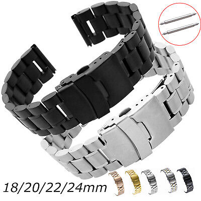 £8.99 • Buy Stainless Steel Band 18 20 24 22mm Metal Bracelet For Samsung Galaxy Watch Strap
