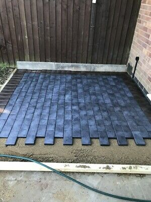£32.50 • Buy Plastic Block Pavers UK Made From 100% Recycled Plastic Eco Friendly - DARK GREY