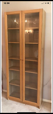Ikea Billy Bookcase With Glass Doors Job Lot Of 10 Collection Only • 300£