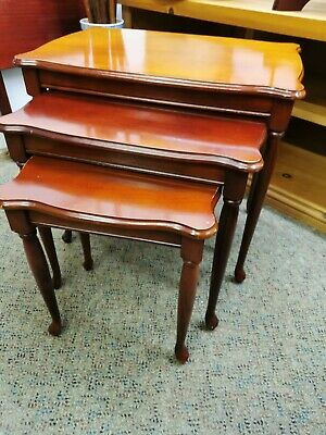£25 • Buy Nest Of 3 Tables, French Style Cabriole Legs, Good Condition, Wood
