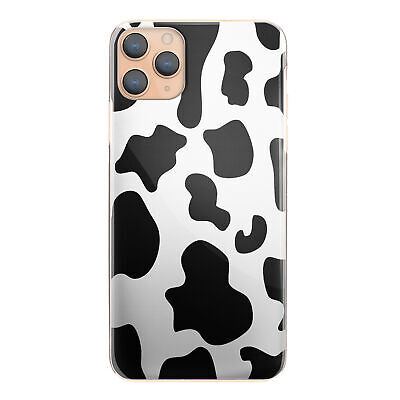 Cow Print Phone Case For IPhone 12/11/Pro/Max/XR/Samsung S20/A51/A20e Hard Cover • 4.99£