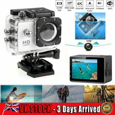 Action Camera 4K 1080P Camcorder Waterproof DV Sports Cam Go Pro Underwater Play • 20.59£