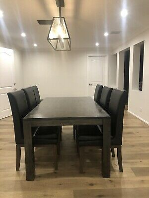 AU395 • Buy Dining Table, 6 Chairs & Matching Buffet.