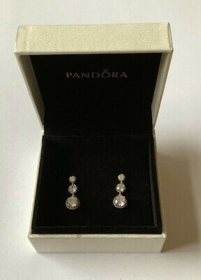 Eternal Elegance Drop Earrings In Pandora Gift Box Genuine Sterling Silver S925 • 21.99£