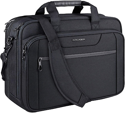 KROSER 18  Laptop Bag Expandable Laptop Briefcase Fits Up To 17.3 Inch Laptop • 32.49£