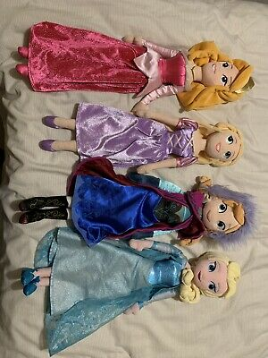 Disney Princess Dolls 4 Bundle Plush Soft Toy Large Collectable Various • 13£