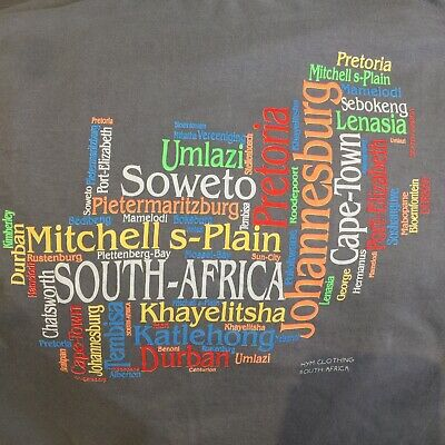 AU19.95 • Buy HYM Clothing South Africa Multicoloured Spell Out Landmarks Towns Sights Vtg XL